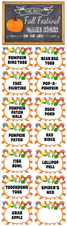 Fall Festival Signs - FREE Printable Signs Download!