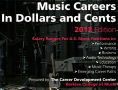 Music Careers in Dollars and Cents 2012