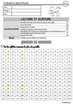 Des évaluations diagnostiques CE1 à partir des nouveaux programmes. Evaluations en français et mathématiques (lecture, écriture, numération, calcul).