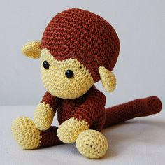 Amigurumi Crochet Monkey Pattern  Johnny the Monkey  Softie