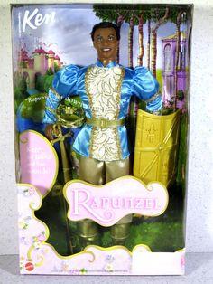 ** NIB BARBIE DOLL 2001 AS RAPUNZEL KEN AS PRINCE STEFAN  #Mattel