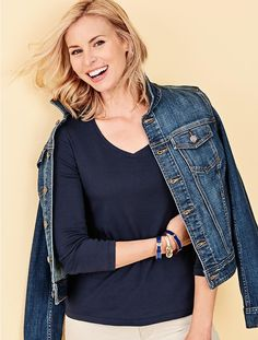 The Classic Denim Jacket - Leeward Wash - Talbots - SB Sept 2016