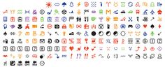 The Museum of Modern Art just announced that it acquired the original set of 176 emoji for its permanent collection. Starting in December, MoMA will show the emoji in the museum lobby. Le Emoji, Emoji Set, Fondation Louis Vuitton, Smileys, Moma Collection, Emoji Design, Emoji Movie, The Originals, Pictogram