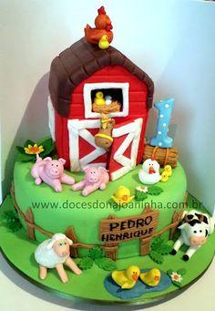 Fazendinha Bolo decorado Farm cake http://www.docesdonajoaninha.com.br/