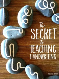 The Secret to Teaching Handwriting - Use this one simple DIY project to help pre-writers to distinguish between straight and curved lines to help build their understanding of shape and help establish correct letter and number formation later   you clever monkey