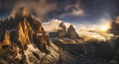 "Tre Cime di Lavaredo during an epic sunset.  <a href=""https://www.facebook.com/pages/Dr-Nicholas-Roemmelt-Photography/229900307156150"">FOLLOW ME ON FACEBOOK</a>"