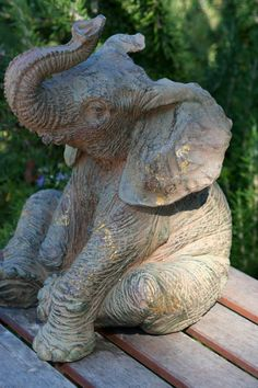 This whimsical elephant can be used as a decorative item on a shelf or even a door stop. Sturdy, made of hard plastic. Painted with browns & All About Elephants, Elephants Never Forget, Elephant Love, Elephant Stuff, Tribal Elephant, Zoo Decor, Elephant Bedding, Elephant Home Decor, Living Room Themes