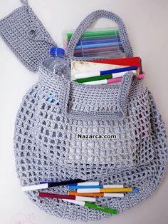 portefeuille-tiges-to-market plug-sac-construction - - Construction, Filets, Filet Crochet, Knitting Patterns, Purpose, Lunch Box, Osho, Plugs, Marketing