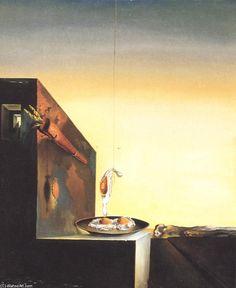 """""""eier auf platte ohne der `flat`"""", 1932 von Salvador Dali (1904-1989, Spain)"""