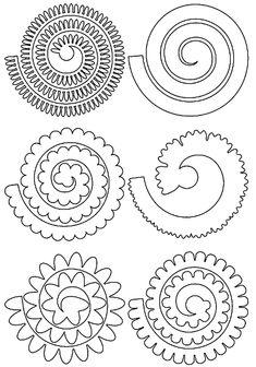 Rolled Paper Flowers, Paper Flowers Craft, Felt Flowers, Flower Crafts, Diy Flowers, Fabric Flowers, Flower Petals, Felt Flower Template, Paper Flower Patterns