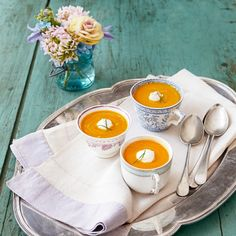 Roasted Carrot Soup — a healthy start to your Easter meal