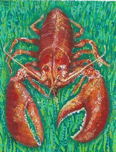 Lobster Canvas Floor Mat | Coastal Style Gifts