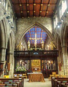 Interior of Wakefield Cathedral. Yorkshire. England. My hometown.