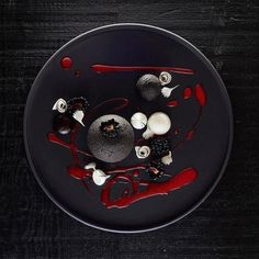 Black beauty: Dark chocolate mousse sphere blackberry and coconut by @lvin1stbite Tag your best plating pictures with #armyofchefs to get featured. - find more inspiration and some of the best culinary jobs on our site!