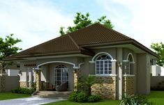 Small house design 2014007 belongs to single story house plans here at Pinoy ePlans. This house plan is a 125 sq. floor plan with 3 bedrooms and 3 bathrooms. Craftsman Bungalow House Plans, Bungalow Haus Design, Small Bungalow, Modern Bungalow House, Bungalow Exterior, Craftsman Bungalows, Modern House Plans, Modern Craftsman, Bungalow Designs