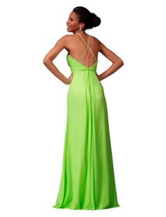 Rhinestone Halter Clarisse prom Dress « Dress Adds Everyday