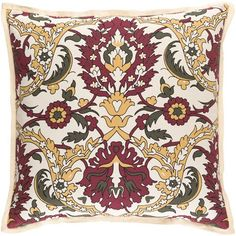 Buy the Surya Yellow / Red Direct. Shop for the Surya Yellow / Red Vincent Wide Square Damask Cotton and Linen Covered Polyester Filled Accent Pillow and save. Paisley Design, Throw Pillow Covers, Accent Pillows, Damask, Decorative Throw Pillows, Ebay, Bed Linen, Traditional Design, Trends