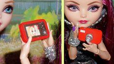 Como fazer Câmera Fotográfica para boneca Barbie, Monster High, Frozen, ...