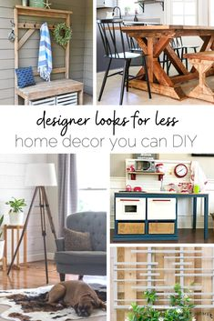High-end looking designer furniture and decor that you can DIY for a lot less! #cheapdecor #diy #budgethome