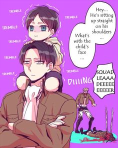 A comic about Eren who turned into a child by one of Hanji's experiments [Part 2 + Extra; Page 22] Artist: 化玉@ついった Title: 【進撃の巨人】ハンジさんの実験でちったくなったエレン漫画② Translated by: Torashii