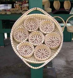 Sweetgrass beverage tray with coasters