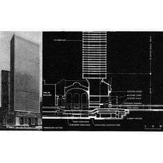 marcel breuer: proposal for an office tower built on top of grand central station, new york Tower Building, Marcel Breuer, 42nd Street, Central Station, Architecture Art, Teaser, Facade, Proposal, How To Plan