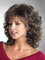 Soft Bouncy Wavy Synthetic Mid-Length Wig, Synthetic Ladies Wigs | P4