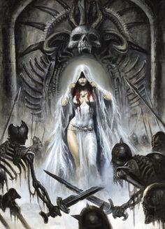 Zombie Queen 1 by Sebastien Grenier Medieval World, Medieval Fantasy, Anime Fantasy, Dark Fantasy, Art Village, Digital Art Gallery, Bild Tattoos, Vampire Art, Cover Pics