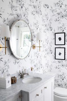 170 Wallpapered Bathrooms Ideas In 2021 Bathrooms Remodel Bathroom Wallpaper Bathroom Decor