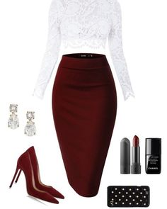 A fashion look from August 2015 by featuring Stone_Cold_Fox, Gianvito Rossi, Kate Spade, Diane Von Furstenberg and le top Dressy Outfits, Mode Outfits, Fashion Outfits, Womens Fashion, Fashion Trends, Dressy Pants, Fashion 2018, Skirt Fashion, Spring Outfits