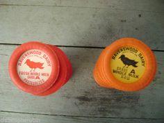 48 Vintage Milk Bottle Wax Caps lid Dairy Myrtle Creek Oregon NEW/OLD Stock bird