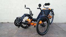 Atomic Orange Catrike 559 Folding Trike: Custom Catrike 559 Folding Recumbent Trike from Utah Trikes Velo Tricycle, Recumbent Bicycle, Bike Path, 3rd Wheel, Travel Tours, Bike Trails, Touring, Random Stuff, Cycling