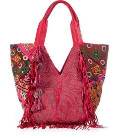 Stylische Patchwork-Tasche im Ethno-Look