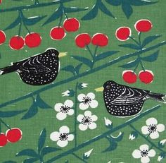 """""""Cherry Orchard"""" designed in the 1950s by the iconic Swedish designer Marianne Westman, and reprinted by Almedahls"""