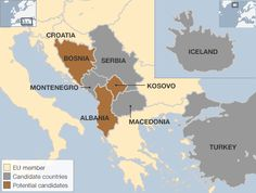 will other countries will the european union?? | EU enlargement map - countries in queue to join