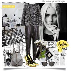 The Minions Are Now Fashion by ramona-ice on Polyvore featuring MuuBaa, Rebecca Minkoff, CÉLINE, Bobbi Brown Cosmetics, Smashbox, Lancôme, Prada, allblack, oversizedsweater and minions
