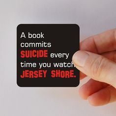 a book commits suicide square magnet by BookFiend on Etsy, $5.50    Too Funny!