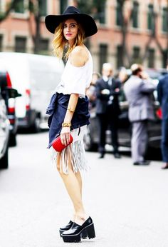 Where to Find the Best Street Style on Pinterest via @WhoWhatWear
