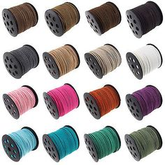BLACK 100 YARD REEL FAUX SUEDE CORD JEWELLERY CRAFT CRAFTERS 2.5mm