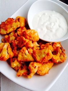 Crispy Cauliflower Buffalo Wings (Gluten-Free!) Buffalo taste without the meat or grease. A healthy alternative!