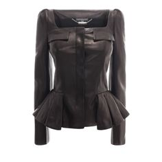 ALEXANDER MCQUEEN|Jackets & Coats|Pleated Leather Jacket
