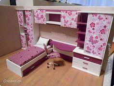 Привет всем! И снова я с игрушечной мебелью год спустя. Сегодня хочу представить мебель для девочки. Возможно кому-то понадобиться мастер-клас, потому постараюсь выложить более подробно и доступно. фото 40