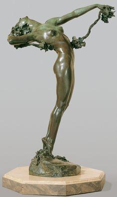 "Nude Aerialist Ribbon Dancer Bronze Metal Art Deco Sculpture Statue 18.5/"" x 11/"""