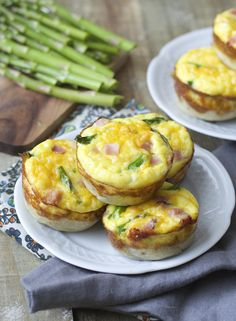 Brighten up your morning brunch with ham and asparagus mini quiches. These cups are packed with flavor and require little prep work.