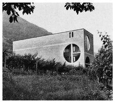 Casa Caccia Cadenazzo, Ticino, Switzerland; 1970-71 Mario Botta ELARA FRITZENWALDEN