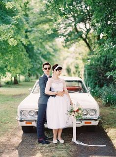 could not love this retro wedding dress more