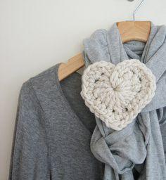 Chunky crochet heart. Beautiful!
