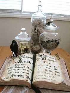 DIY spellbook as well as some other creppy Halloween-esque props. - Creative Outlet: A little Halloween Halloween Prop, Halloween Tags, Entree Halloween, Fröhliches Halloween, Halloween Cocktails, Halloween Projects, Holidays Halloween, Halloween Snacks, Halloween Ideas