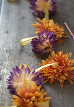 {fake} flower garland
