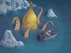 Banana Octopus by Jason Kotecki